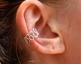 Sterling Silver-Wave-Ear Cuff / Free US Shipping