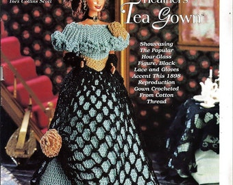 Ladies of Fashion Heather's Tea Gown Fashion Doll  Crochet Pattern  The Needlecraft Shop 962505