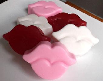 Bridal Shower Favors - Unique Wedding Favors, Bachelorette Party Favors, Lip Soap, Valentines Day Wedding - Set of 10