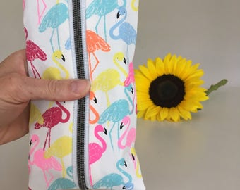 Flamingo Essential Oil Long Pouch - Essential Oil Purse - Essential Oil Bag