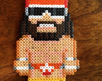 Macho Man Randy Savage Pixel Art Mini Bead Keyring