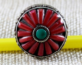 Colourful ring from Afghanistan--3801