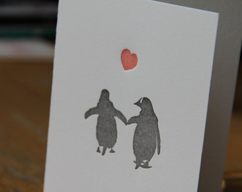 Its getting hot in here -  letterpress note card