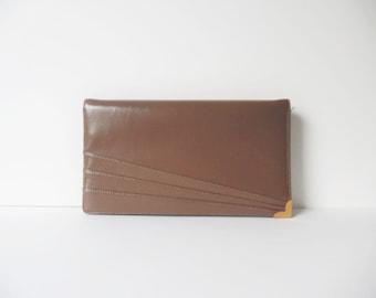 Vintage Clutch Vintage purse Vintage Brown Clutch Vintage Envelope Clutch Foldover Cluth purse Geometric purse Vintage bag Vintage handbag