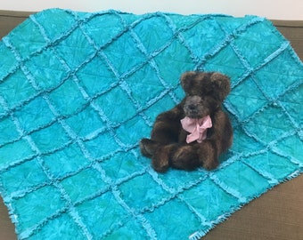 Teal Baby Rag Quilt
