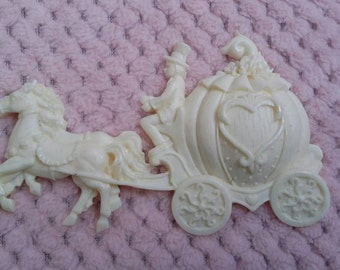 Princess carriage/applique/children's decor/