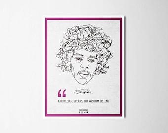 Ilustrattion-Influencers Jimi Hendrix