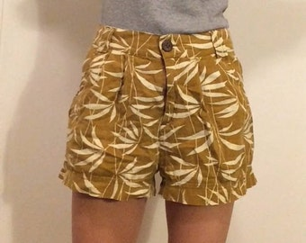 funky printed linen shorts