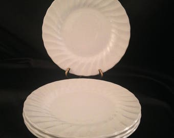 Olde Chelsea White by MYOTT STAFFORDSHIRE Salad Plate Set of 4