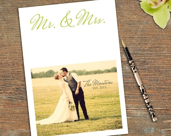 Mr & Mrs, Thank You, Stationary, Correspondence, Customizable, Printable