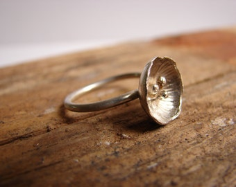 Silver Flower Sterling Silver Ring Floral Jewelry Boho Chic