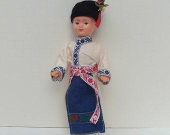 Czech Souvenir Doll, Lidova Tvorba Style Doll, Tatra Mountain Doll