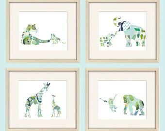 boy Nursery Art Baby Boy Nursery Decor jungle nursery wall art elephant nursery giraffe nursery elephant print elephant art giraffe print