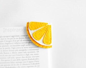 Lemon Corner Bookmark, cute felt bookmark, felt fruit, summer, Back to school gift, made to order