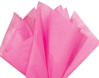 Fuchsia Hot Pink Tissue Paper . 20 x 30 inches . 24 sheets