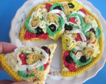 Pizza Crochet Pattern Crochet Food Pattern PDF Instant Download Pizza