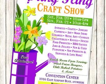 Spring Craft Show Flyer
