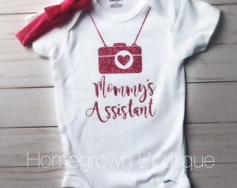 Mommy's Assistant Photographer Onesie