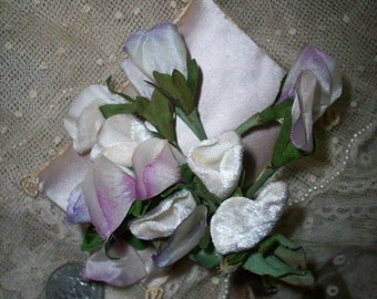 Vintage silk and velvet flowers
