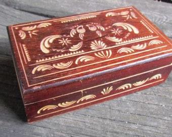 jewelry box Vintage jewelry storage Wooden Box Wood Box Treasure Box Rustic Home Decor Storage Box Trinket box jewelry organizer
