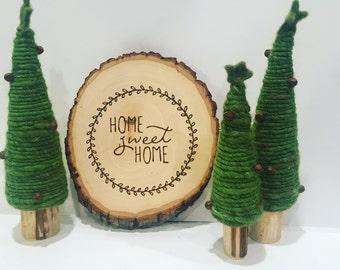 Home Sweet Home | Wall Sign | Wall Decor | Wood Slice