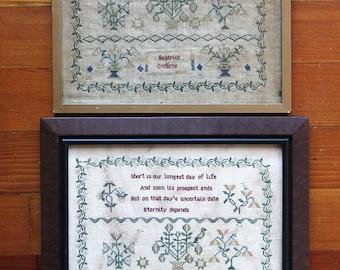Beatrice Godfrey (a Faithfully Reproduced Antique Sampler) : Heartstring Samplery