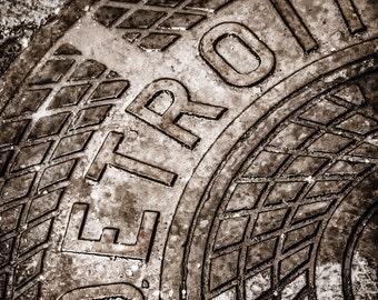 Lustre Print: Detroit Manhole Cover