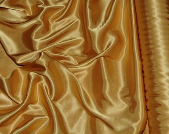 """Stretch Satin Antique Gold  fabric 52"""" wide...bridal, lingerie , home decor, pajama's, sleep wear, formal wear"""