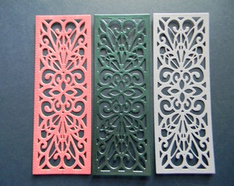 Lace Die Cut Striplet / Bookmark From Bazzill Cardstock (240)