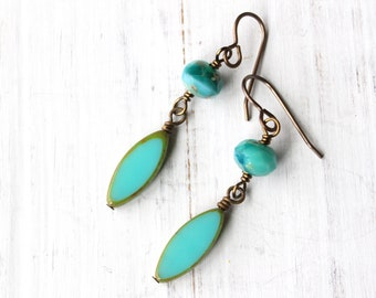 Turquoise Dangly Earrings