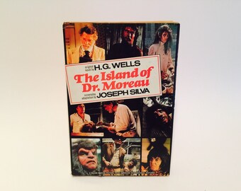 Vintage Sci Fi Book The Island of Dr. Moreau by H.G. Wells & Novelization 1977 Hardcover