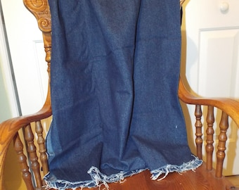 Navy Blue Denim Fabric For Your Sewing Projects 2 Yards Cotton Fabric