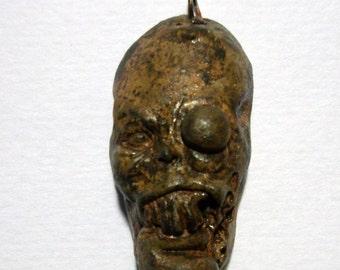 Original Zombie Horror Shrunken Head Voodoo African Zombie Head Pendant