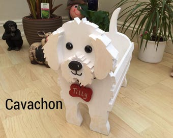 CAVACHON,wooden,garden,planter,personalised,name tag,ornament,decoration,custom made,pets,