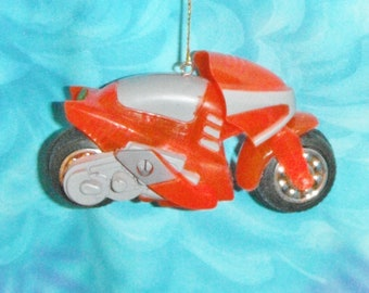 One - Red Motorcycle Motorbike Boys ~ Christmas Ornament