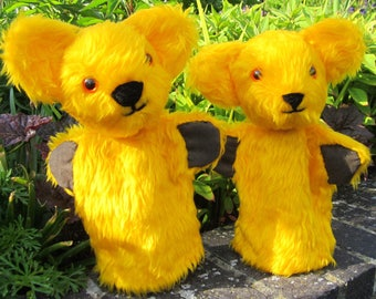 Yellow Bear Puppet Bear Glove Puppet Activity Toy Yellow Bear Kids Toy Yellow Creative Toy Item for Entertaining Children Child's Plaything
