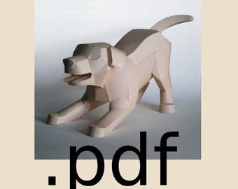 Dog Papercraft PDF - DIY Template