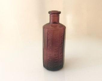 Bitter bottles purple glass miniatures vintage collectible glass