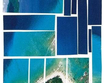 Ocean Mosaic Card