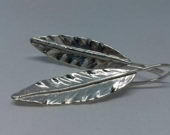 925 Silver leaf Earrings