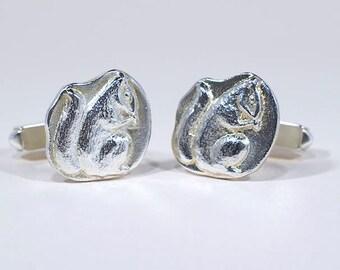 Woodland Squirrel Silver Cufflinks