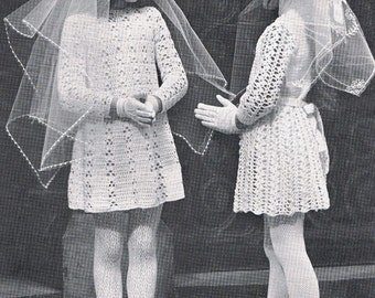 First Holy Communion Dress Crochet Pattern  T236
