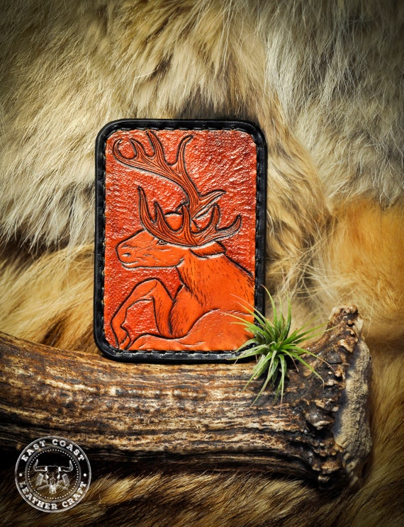 Minimalist Wallet - Leather Card Wallet - Wildlife Wallet