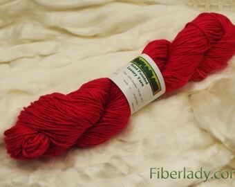 Hand painted Metake Bamboo yarn, 4 oz, Red Kimono