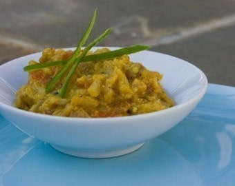 Baigan Bharta (Mashed Eggplant) Sabji Indian Spice Blend Packet, Recipe, and Shopping List