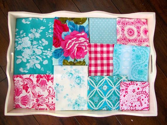 Jennifer Paganelli Teal & Fuchsia Minky Blanket Made to Order
