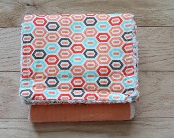 Burpee | Burp cloth | Chenille | Wash cloth | Peach | Honeycomb