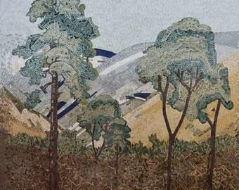Custom Mosaic Trees Tile Art