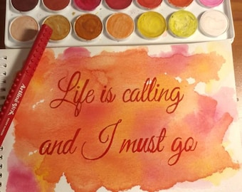 Life watercolor painting