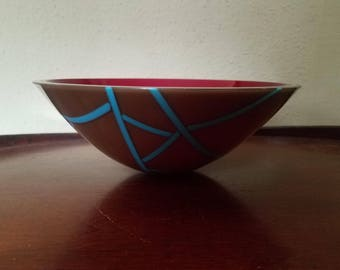 Fused Art Glass Bowl by Gertie Zeiter, Gertie Zeiter Art Glass, Gertie Zeiter Artist, Original Art